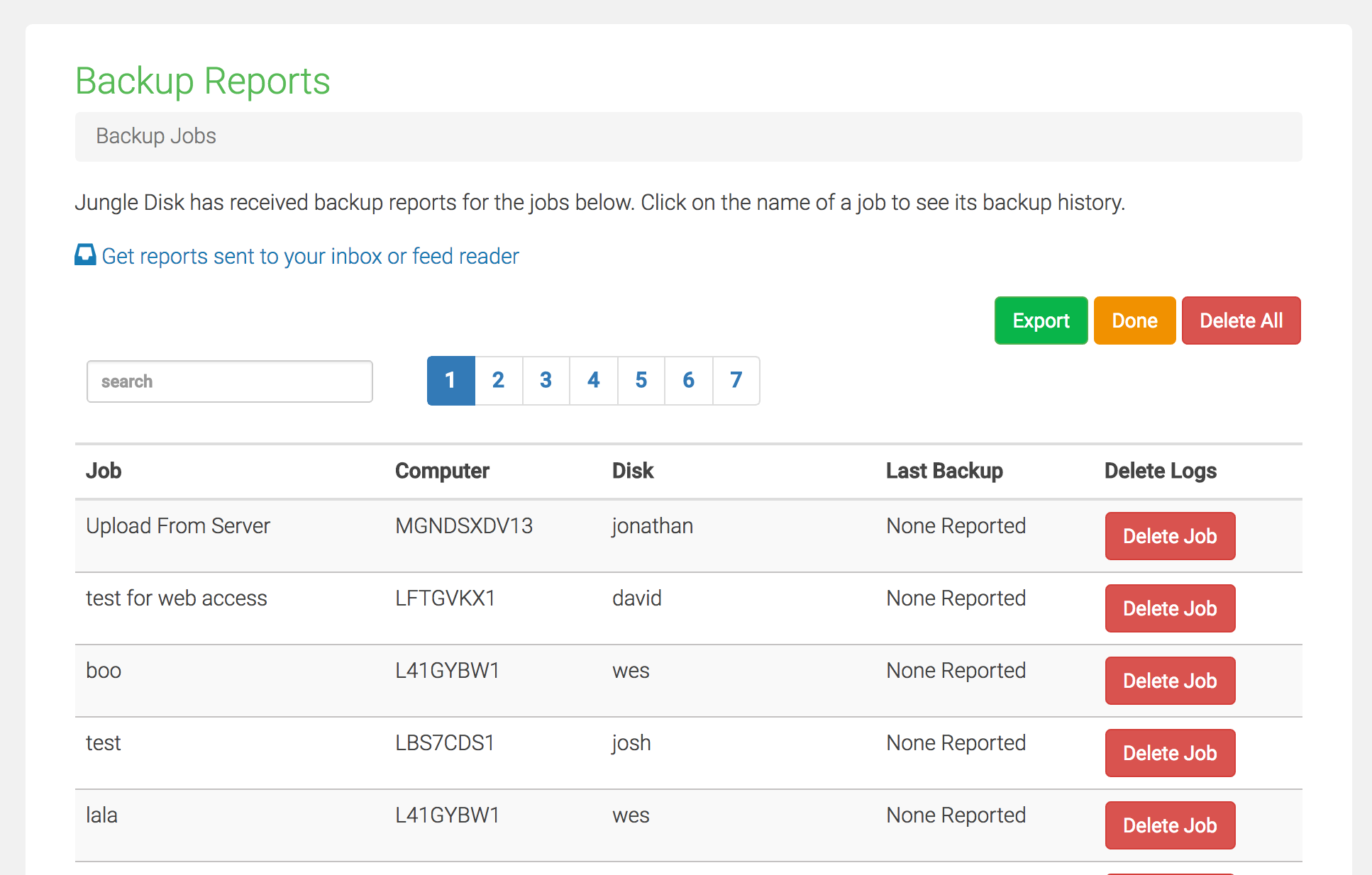 Backup Reporting Management