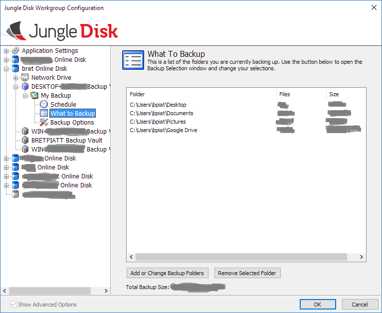 Google Drive in Jungle Disk Backup Vault Example