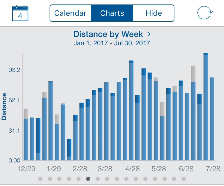 Distance By Week