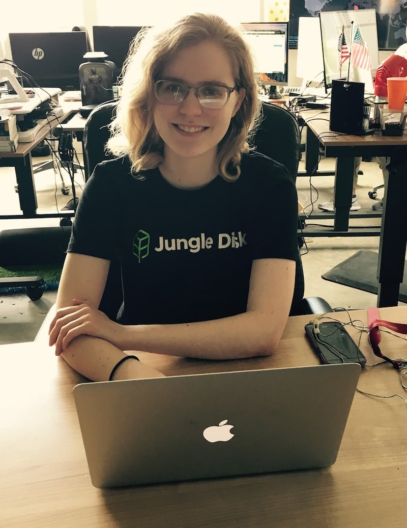 Jungle Disk Intern, Sarah Scott