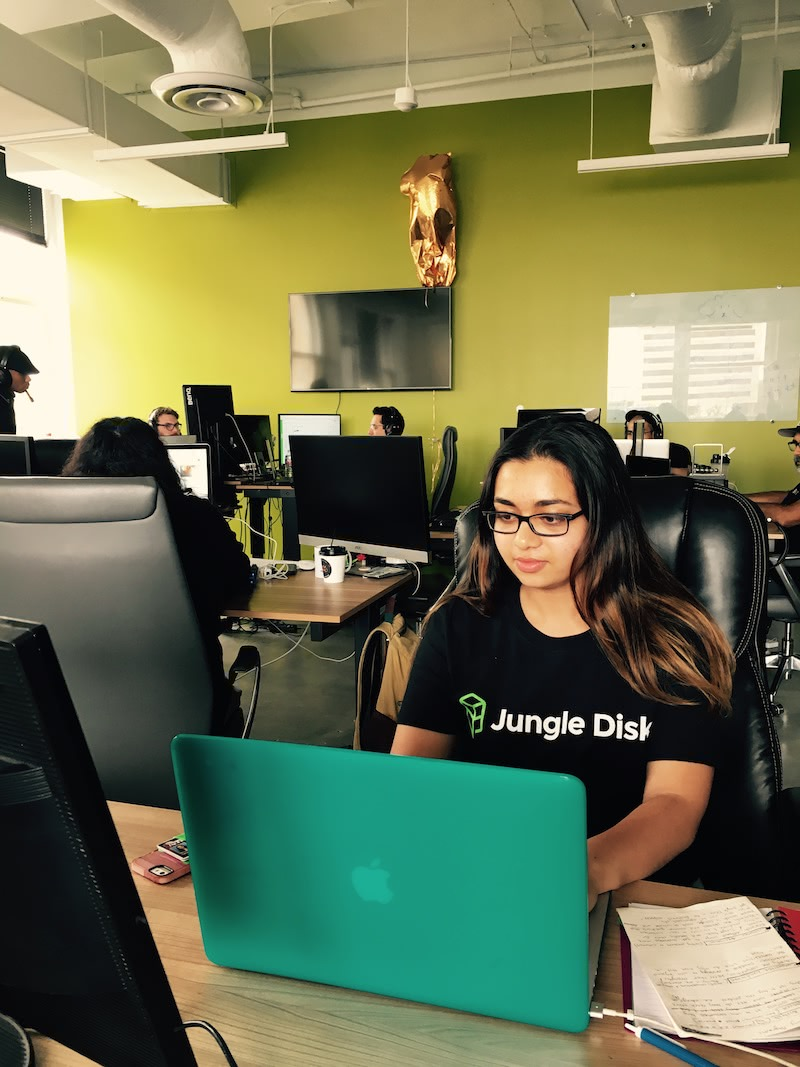 Jungle Disk Intern, Tanya Nair